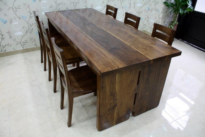 호두나무 6인용 식탁세트