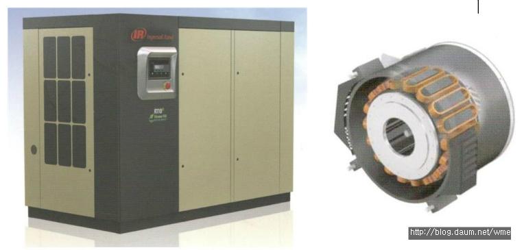 에어콤프레샤(Air Compressor)의 모터도 고효율 모터에서 PM(영구자석형)모터로 진화