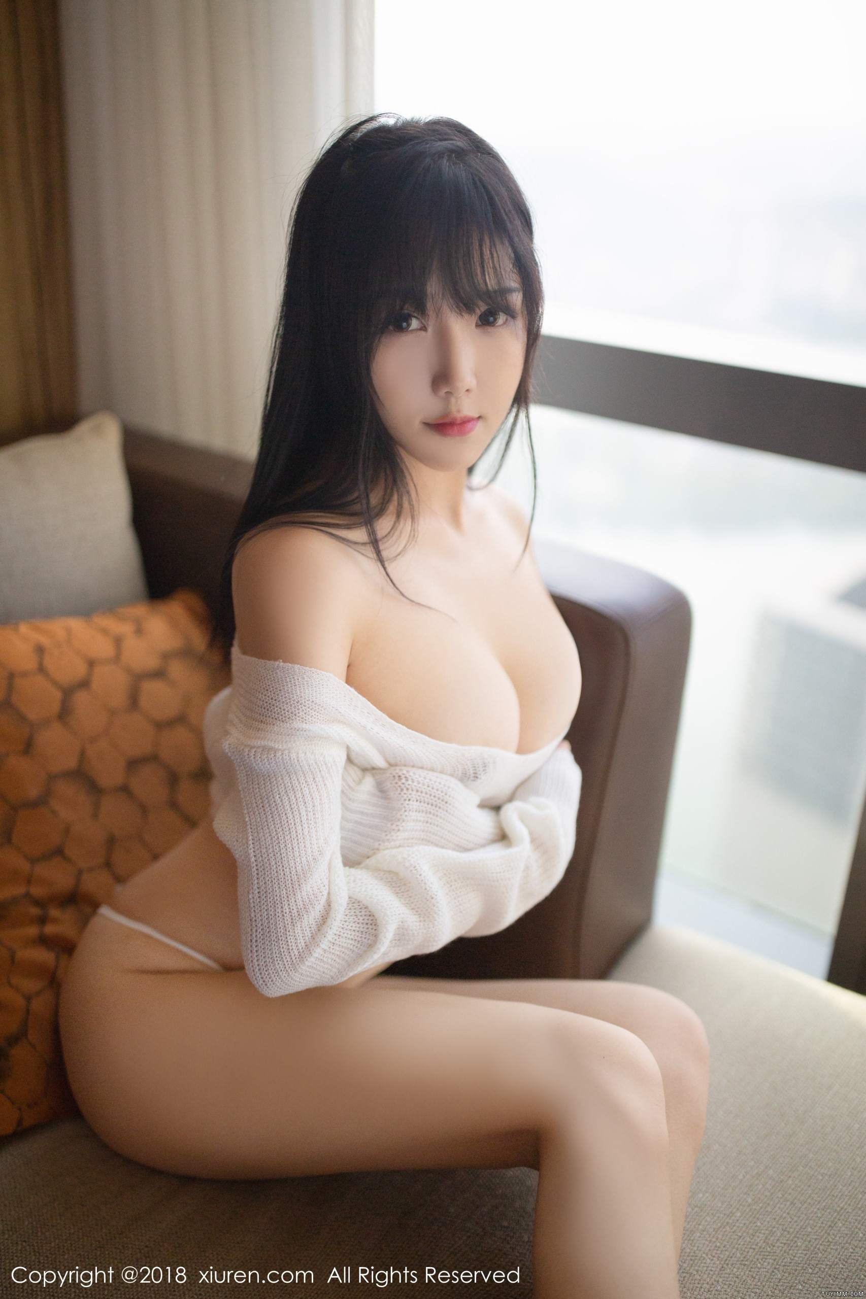 hot Chinese girl in transparent wearing
