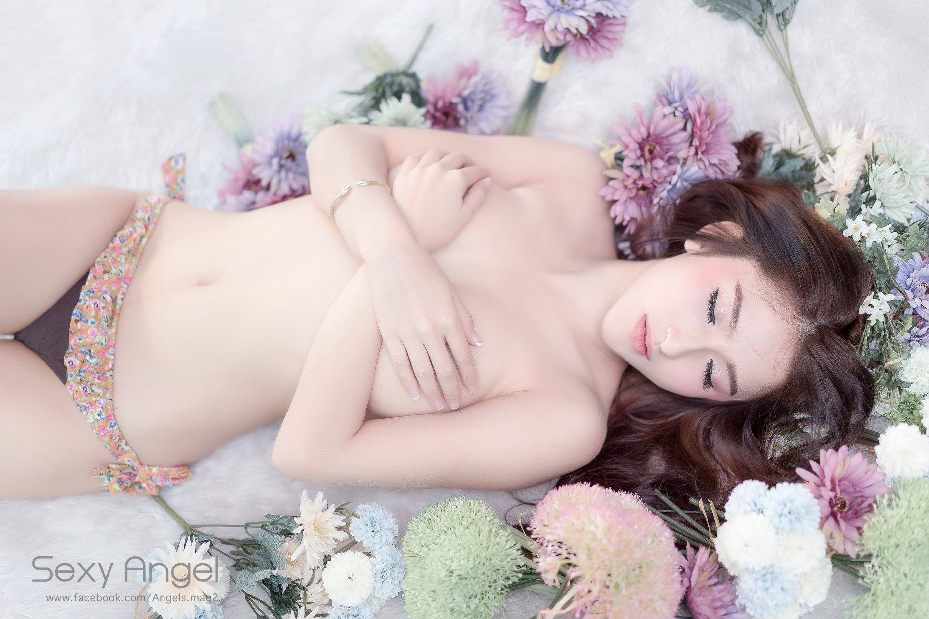 cool Asian girl in sexy pose